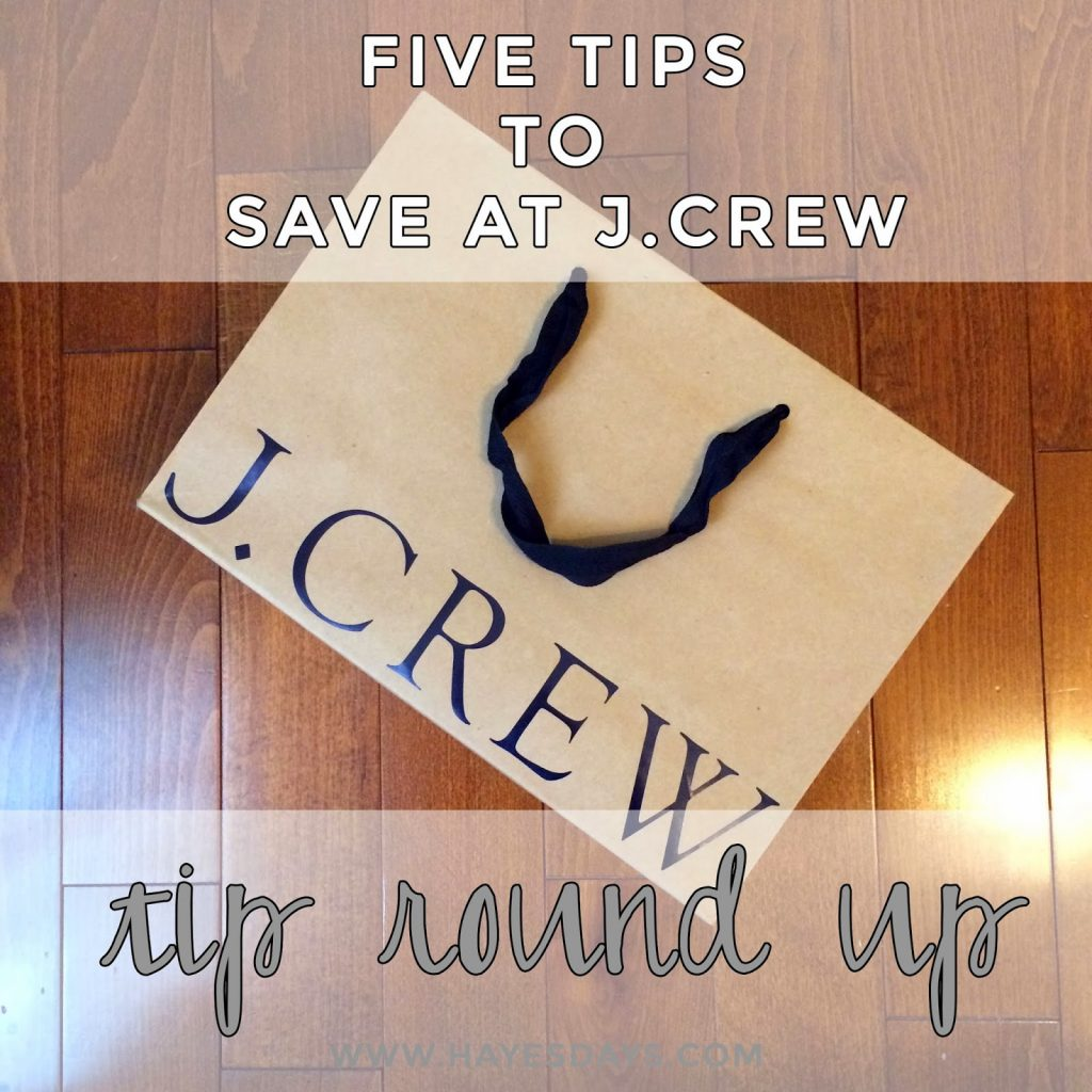 five tips to save at J.Crew