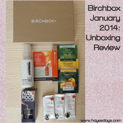 January Birchbox Unboxing ~ www.hayesdays.com