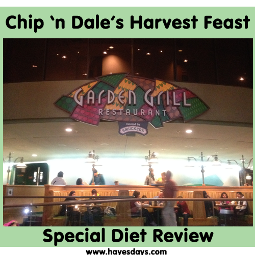 Chip 'n Dale's Harvest Feast Special Diet Review ~ www.hayesdays.com
