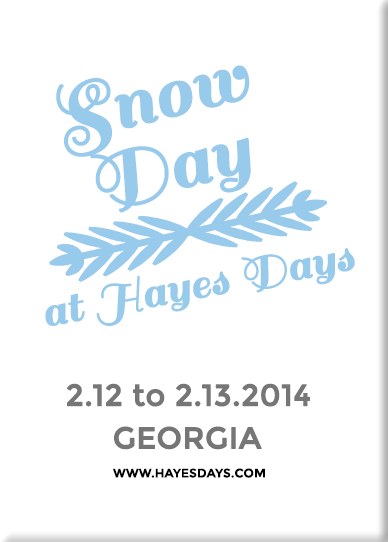 Snow Day at Hayes Days ~ www.hayesdays.com