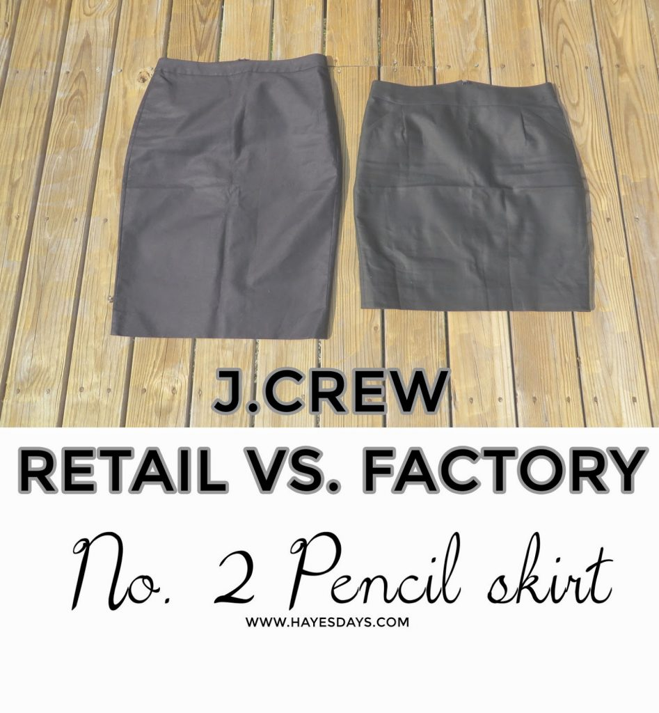 J.Crew Retail vs. Factory No. 2 Pencil Skirt Review :: www.hayesdays.com