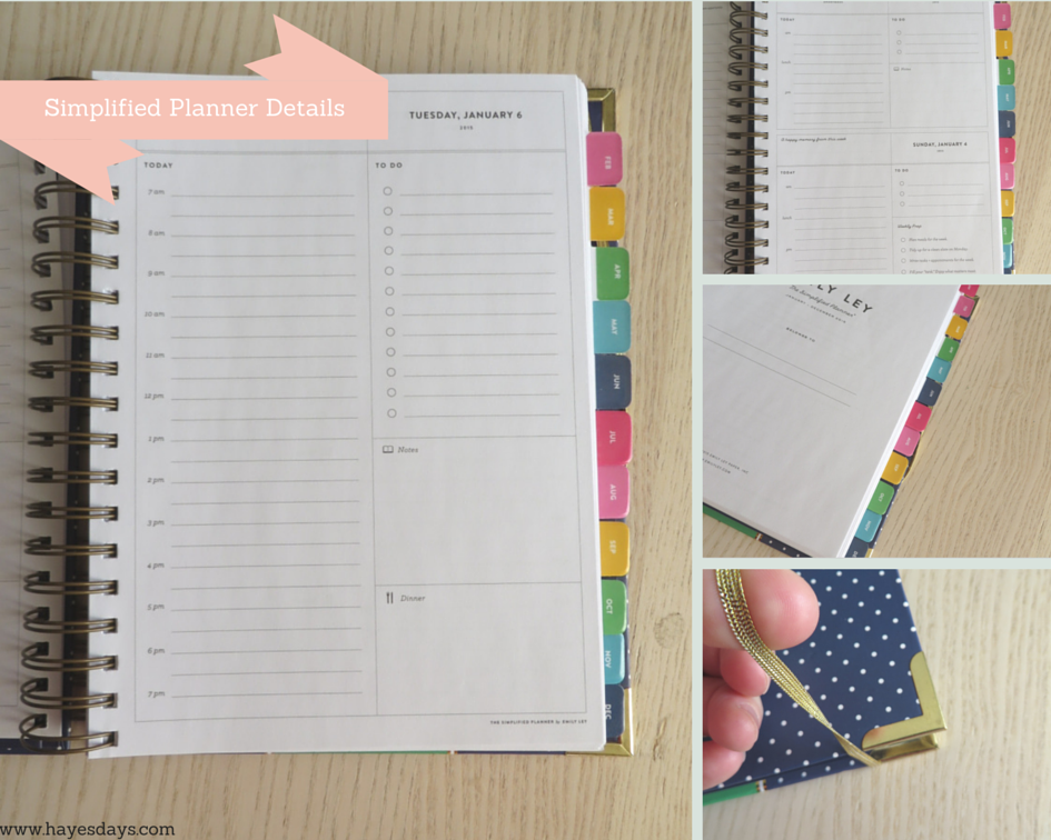 emily ley simplified planner in depth review :: www.hayesdays.com