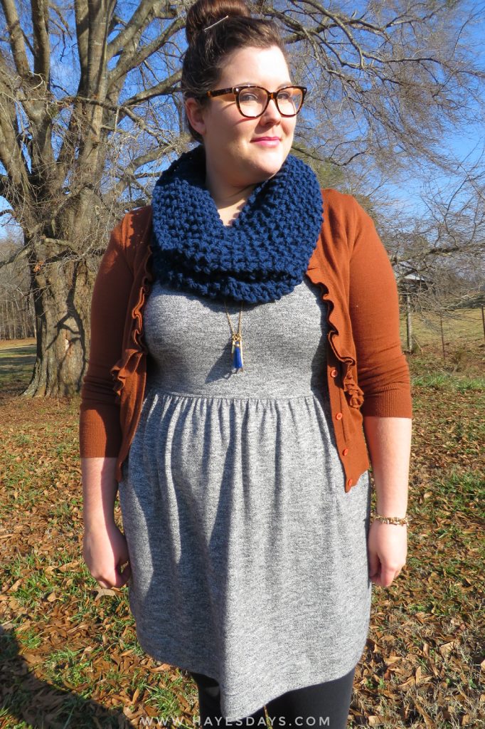ideas for wearing a knit infinity scarf :: www.hayesdays.com